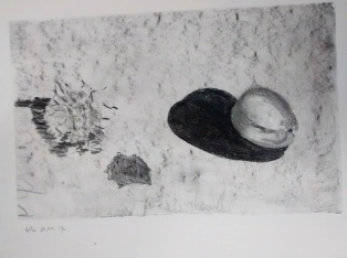 Branwen Ruth WIlliams 2 Charcoal Subtraction drawing