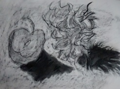 Chrissie Morrison Charcoal Subtraction drawing 2