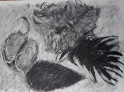 Chrissie Morrison Charcoal Subtraction drawing
