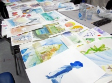 Group -class watercolours